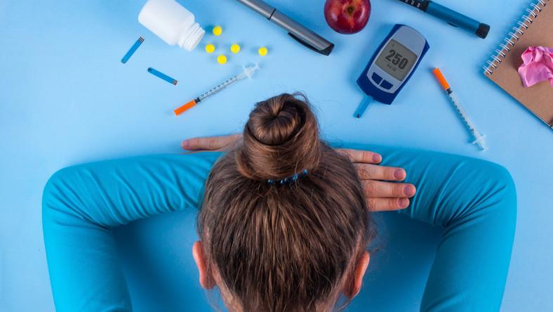 Kobieta chora na cukrzycę