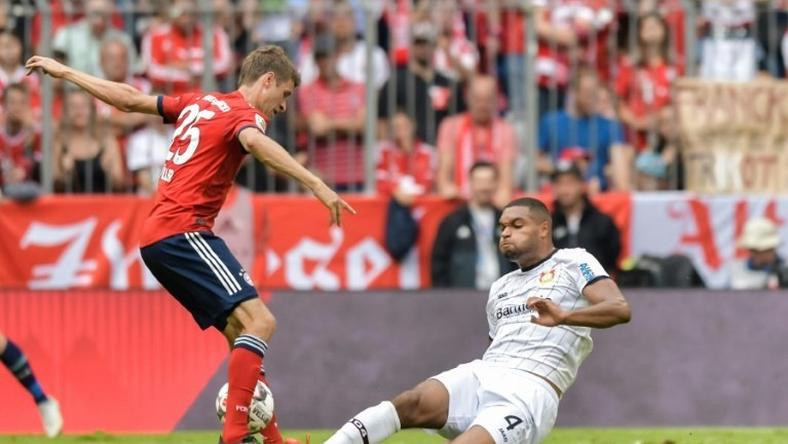 Bayer Leverkusen defender Jonathan Tah (R) was a late call-up to the Germany squad ahead for their Nations League games against the Netherlands in Amsterdam on Saturday and France in Paris next Tuesday.