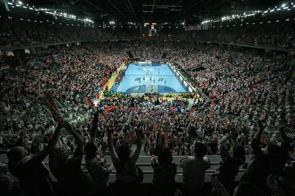 Zagrebačka arena tokom polufinala Svetskog prvenstva u rukometu