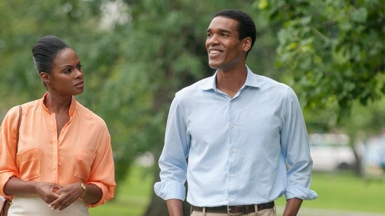 Tika Sumpter and Parker Sawyers as Michelle and Barack Obama