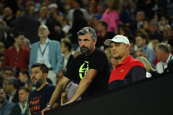 Goran Ivanišević i Marijan Vajda gledaju nastup Novaka Đookvića u finalu Australijan opena 2020.