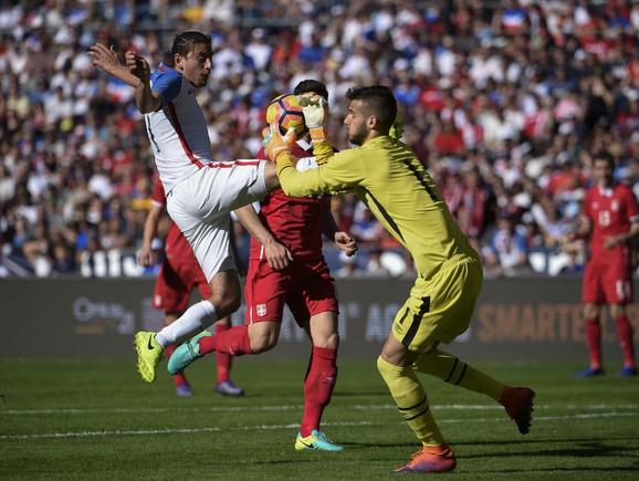 Manojlović u dresu Srbije protiv SAD