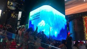 """Najwyższa fala na świecie """"zalewa"""" Times Square w Nowym Jorku"""