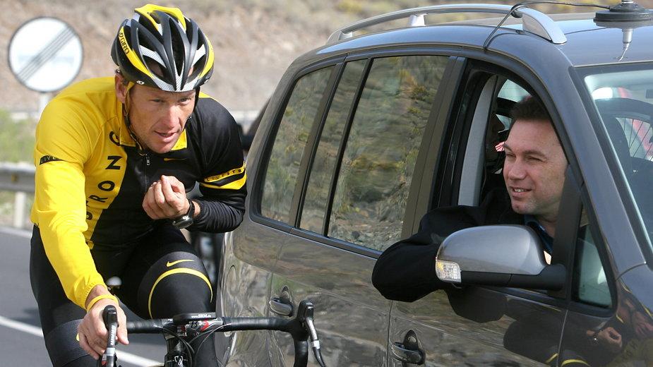 Lance Armstrong i Johan Bruyneel