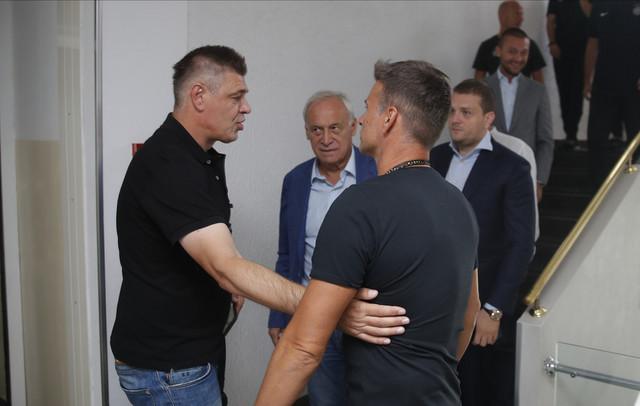 "Savo Milošević Aleksandar Stanojević na ""predaji dužnosti"" u FK Partizan"
