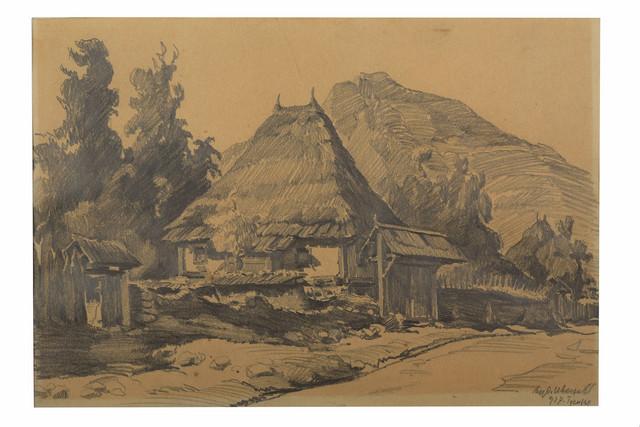 Ljubomir Ivanović, Gussinje, 1927, olovka, 25,5x37cm
