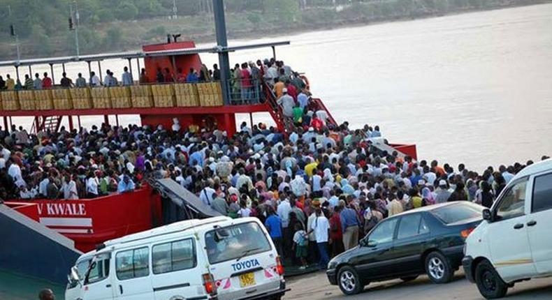 A ferry in Mombasa.