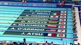Świetny występ Majchrzaka na 200 m stylem dowolnym. Srebro i rekord Polski