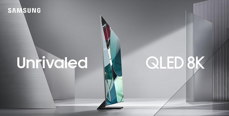 2020 Samsung QLED 8K Q950 with logo