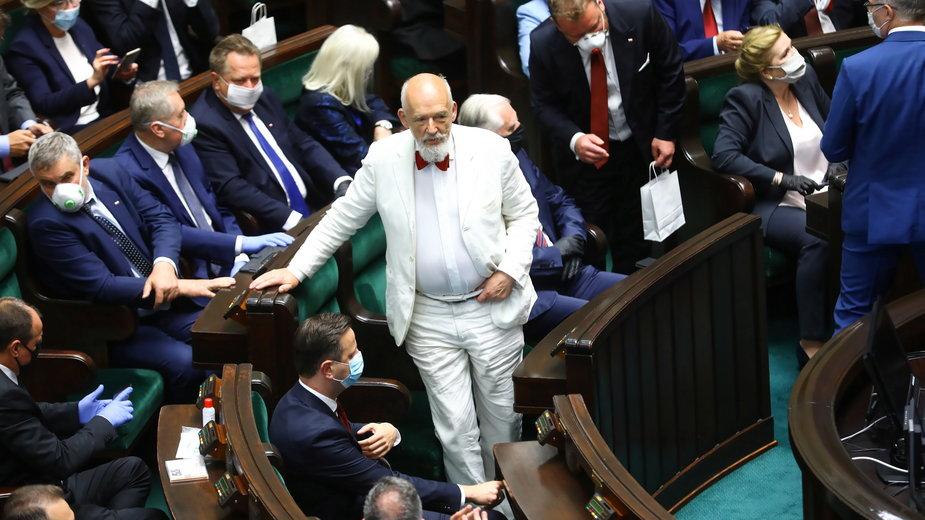 Janusz Korwin-Mikke podczas Zgromadzenia Narodowego