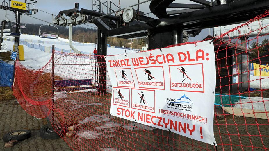 Stoki narciarskie będą nieczynne do 14 lutego