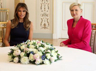 Melania Trump i Agata Duda rankiem spotkały się w Belwederze