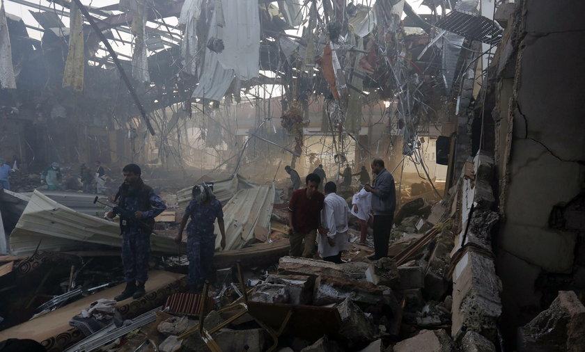 W miejscowości Ana w Jemenie do ataku doszło podczas pogrzebu