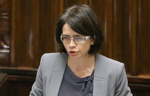 Minister cyfryzacji Anna Streżyńska podczas posiedzenia Sejmu