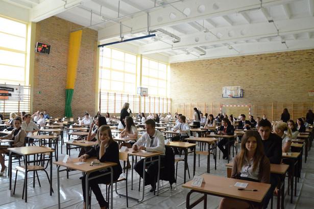 Egzamin maturalny w jednej ze szkół w Lublinie