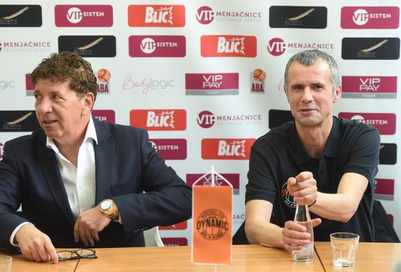 Predsednik KK Dinamik Velibor Jojić i novi trener kluba sa Dorćola, Miro Alilović