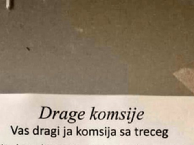 """Komšije su ostale BEZ TEKSTA posle Markovog obaveštenja: """"Vaš zgodni komšija koji je zgodan ima JEDNU MOLBU"""""""