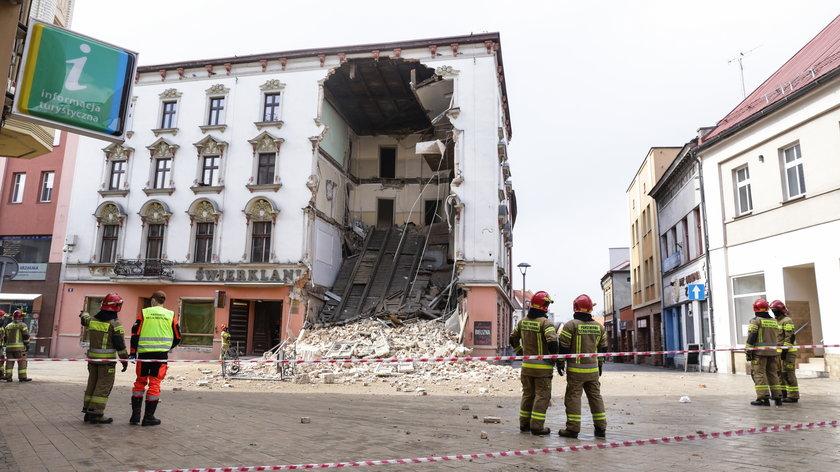 Katastrofa budowlana w Rybniku.