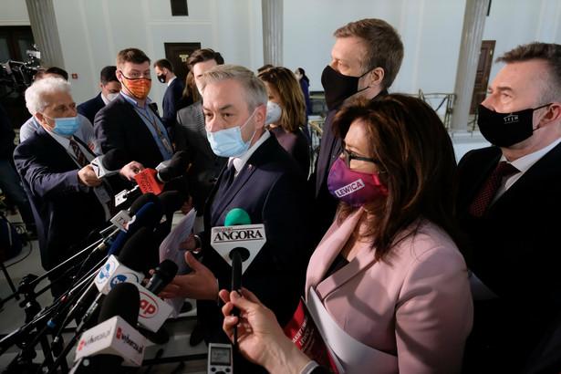 Spotkanie premiera Morawieckiego z przedstawicielami Lewicy w Sejmie