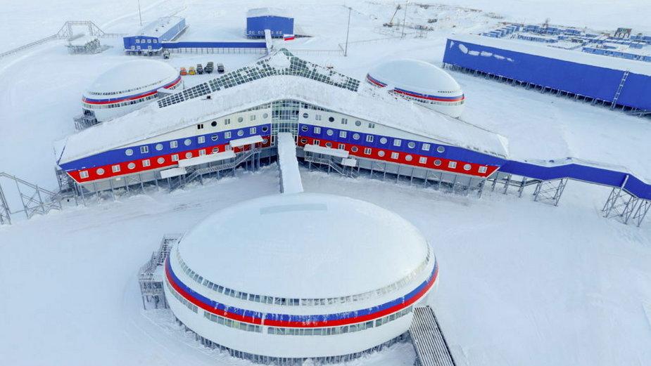 Rosyjska baza Nagurskoje na Ziemi Franciszka Józefa