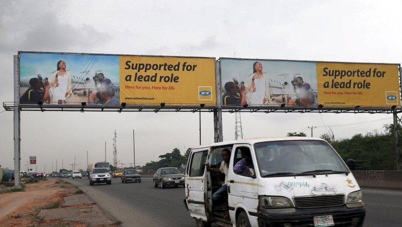 A billboard advertising MTN telecommunication company is seen along a road in Lagos November 16, 2015. (REUTERS/Akintunde Akinleye)