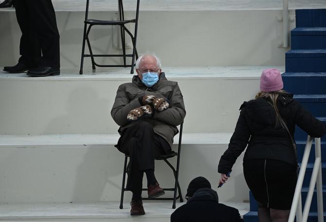 Berni Sanders na inauguraciji Džozefa Bajdena (20. januar, Vašington)