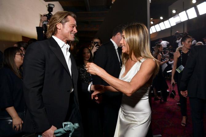Dženifer Aniston i Bred Pit na dodeli SAG nagrada krajem prošlog meseca u Los Anđelesu