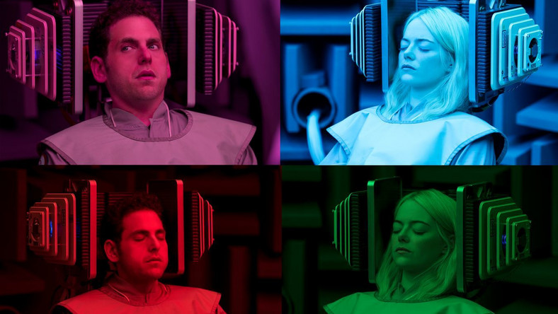 Jonah Hill i Emma Stone w serialu Maniac