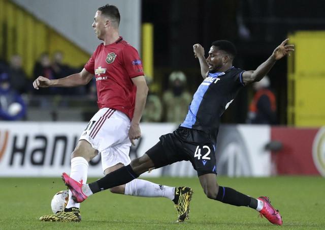 Nemanja Matić na meču Lige Evrope protiv Kluba Briž