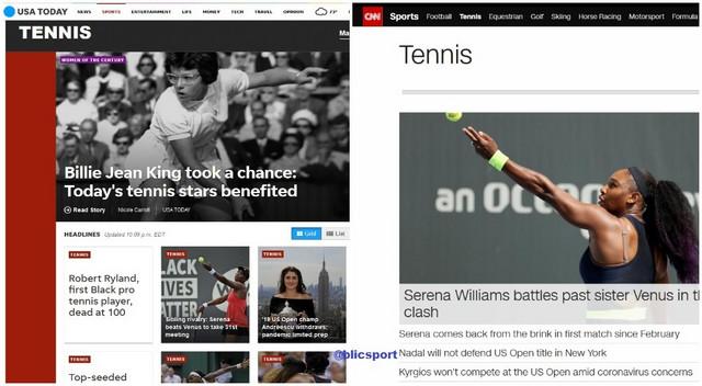 "Teniske rubrike ""USA Today"" i CNN-a dan posle Novakove odluke o US Openu i Sinsinatiju"