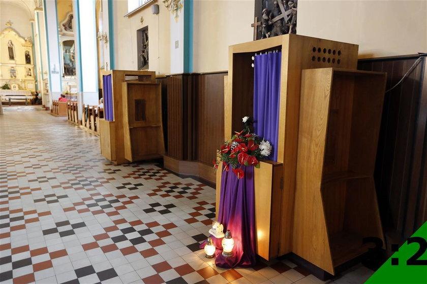 Konfesjonał w parafii w Biertułtowach