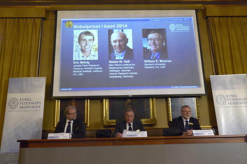 Laureaci Nobla z chemii: Eric Betzig, Stefan W. Hell i William E. Moerner
