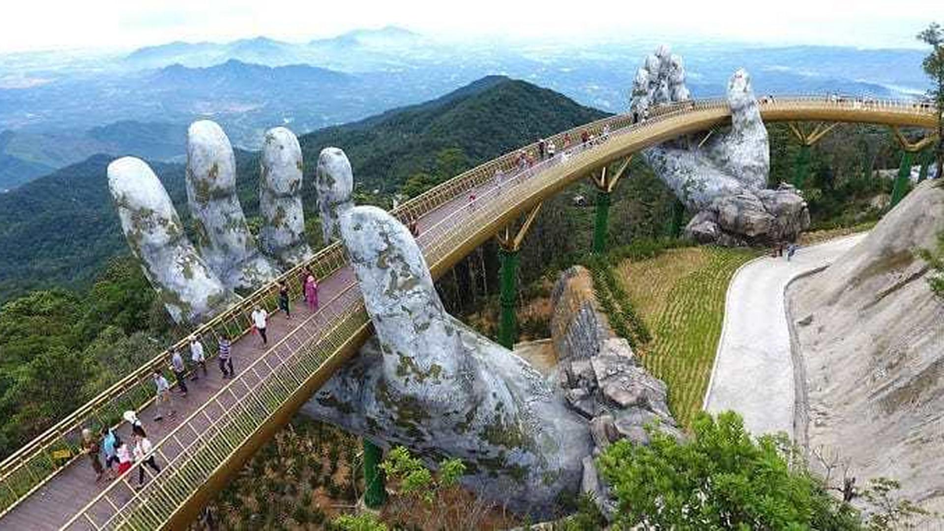 Vietnam Brücke Hände