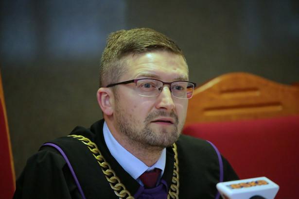 Sędzia Paweł Juszczyszyn podczas posiedzenia Sądu Okregowego dot. ujawnienia list poparcia do KRS w nowym składzie