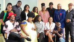 The cast of Papa Shirandula celebrating the death anniversary of Charles Bukeko