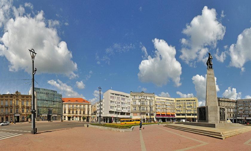 Plac Wolności, Łódź - Stitched Panorama