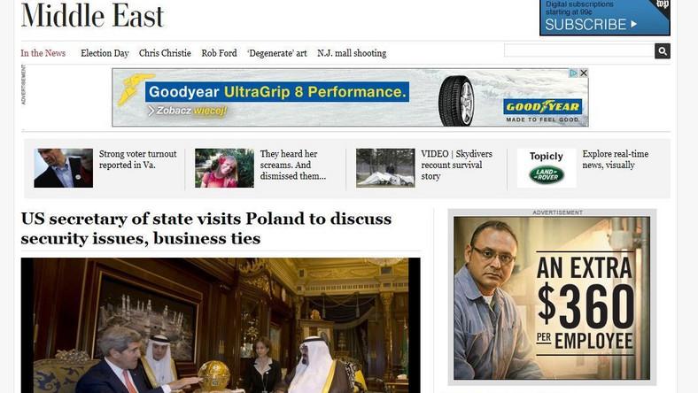 Wpadka zagranicznego serwisu ze zdjeciem Kerry'ego w Polsce