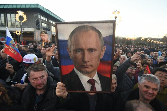 Doček Valdimira Putina u Beogradu