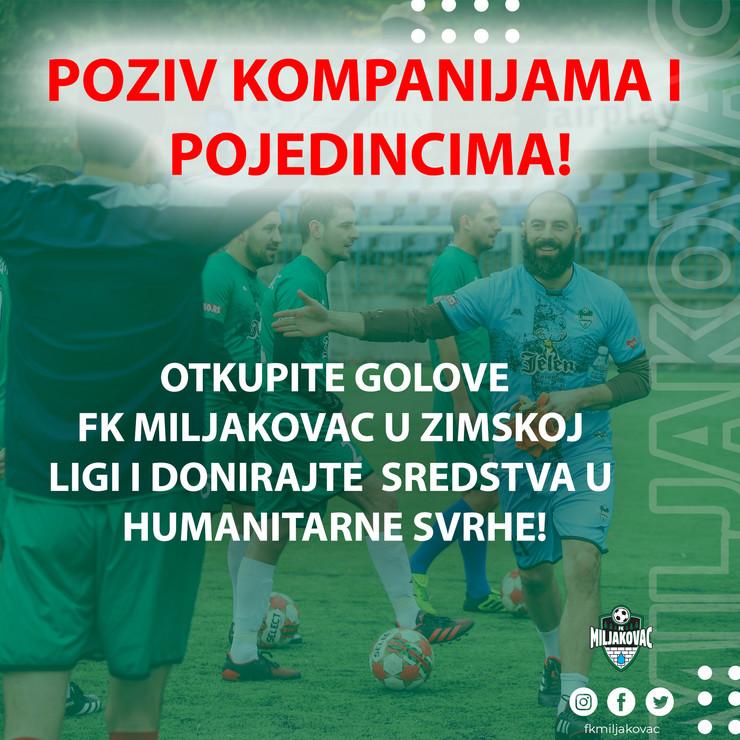 Poziv donatorima FK Miljakovac
