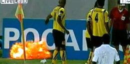 Bomba mogła urwać piłkarzowi rękę. FILM