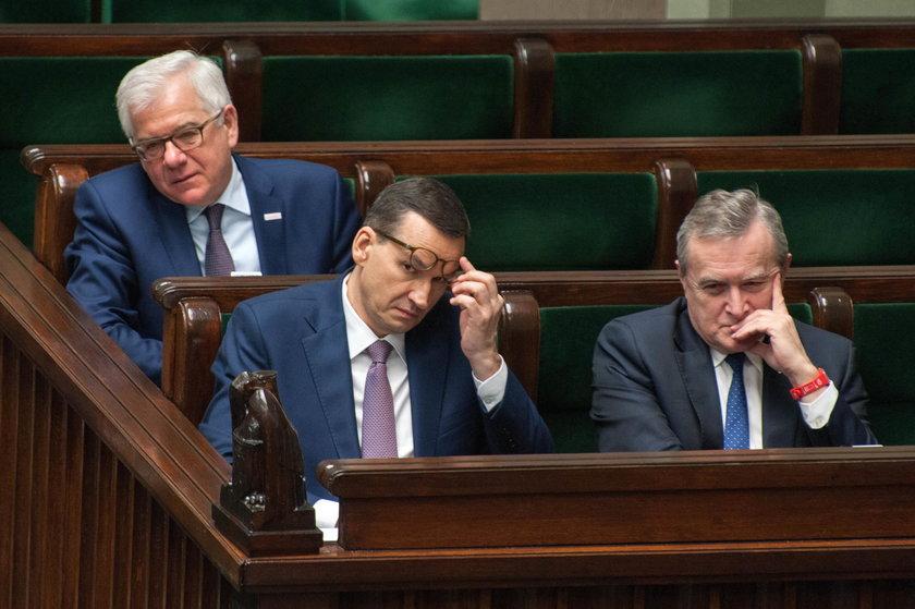 Mateusz Morawiecki, Piotr Gliński i Jacek Czaputowicz