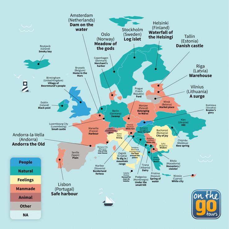 Mapa On the Go Tours