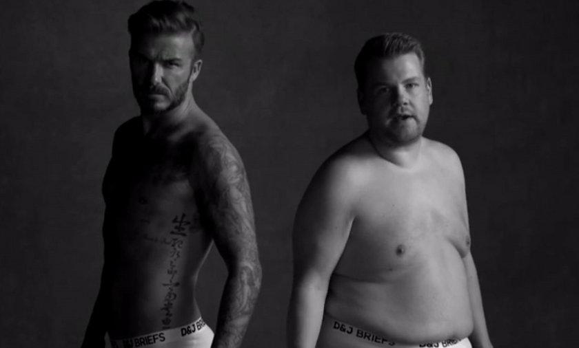 David Beckham i James Carden w fałszywej reklamie bielizny. Wideo!