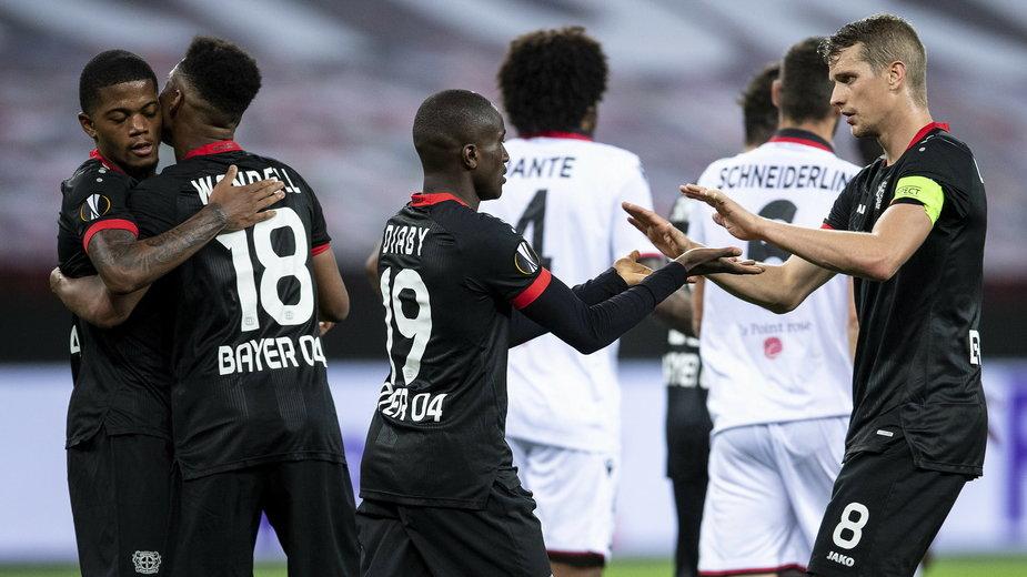 Radość piłkarzy Bayeru Leverkusen