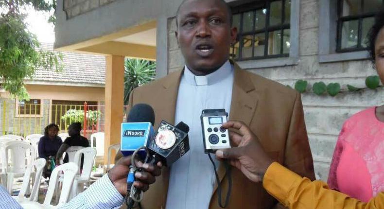 Bishop David Kariuki Ngari also known as Gakuyo during a past media briefing