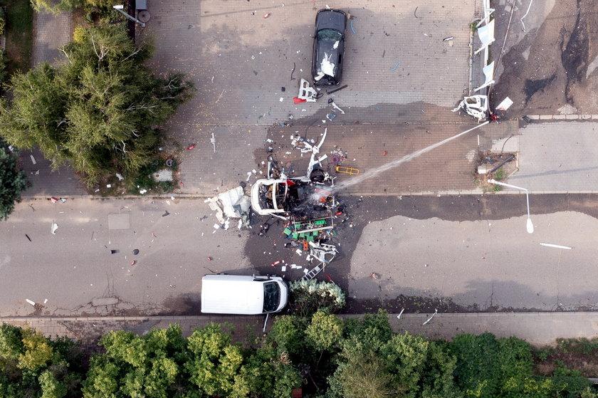 Wybuch w Częstochowie.