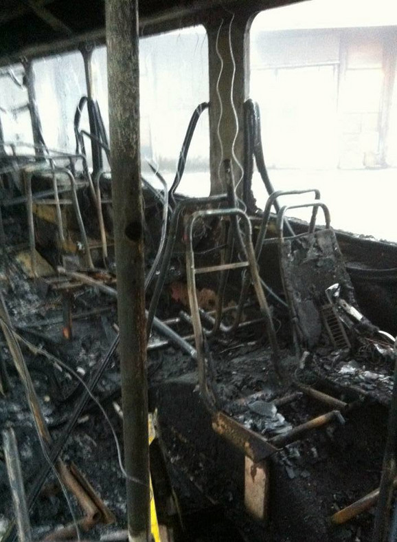Izgorela sedišta