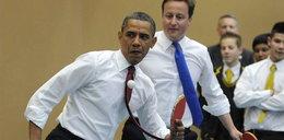 Obama gra w ping ponga!