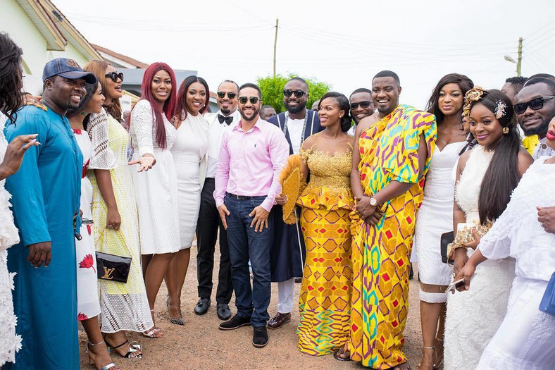 Stars at John Dumelo's traditional wedding