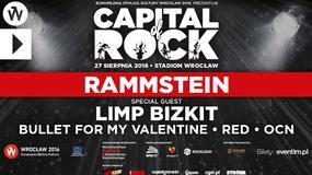 Capital of Rock: Rammstein i Limp Bizkit - rozpiska godzinowa koncertów